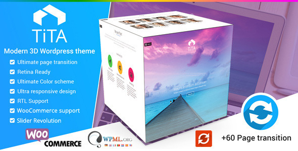 Tita 3D - Modern & Unique Wordpress Theme - Creative WordPress