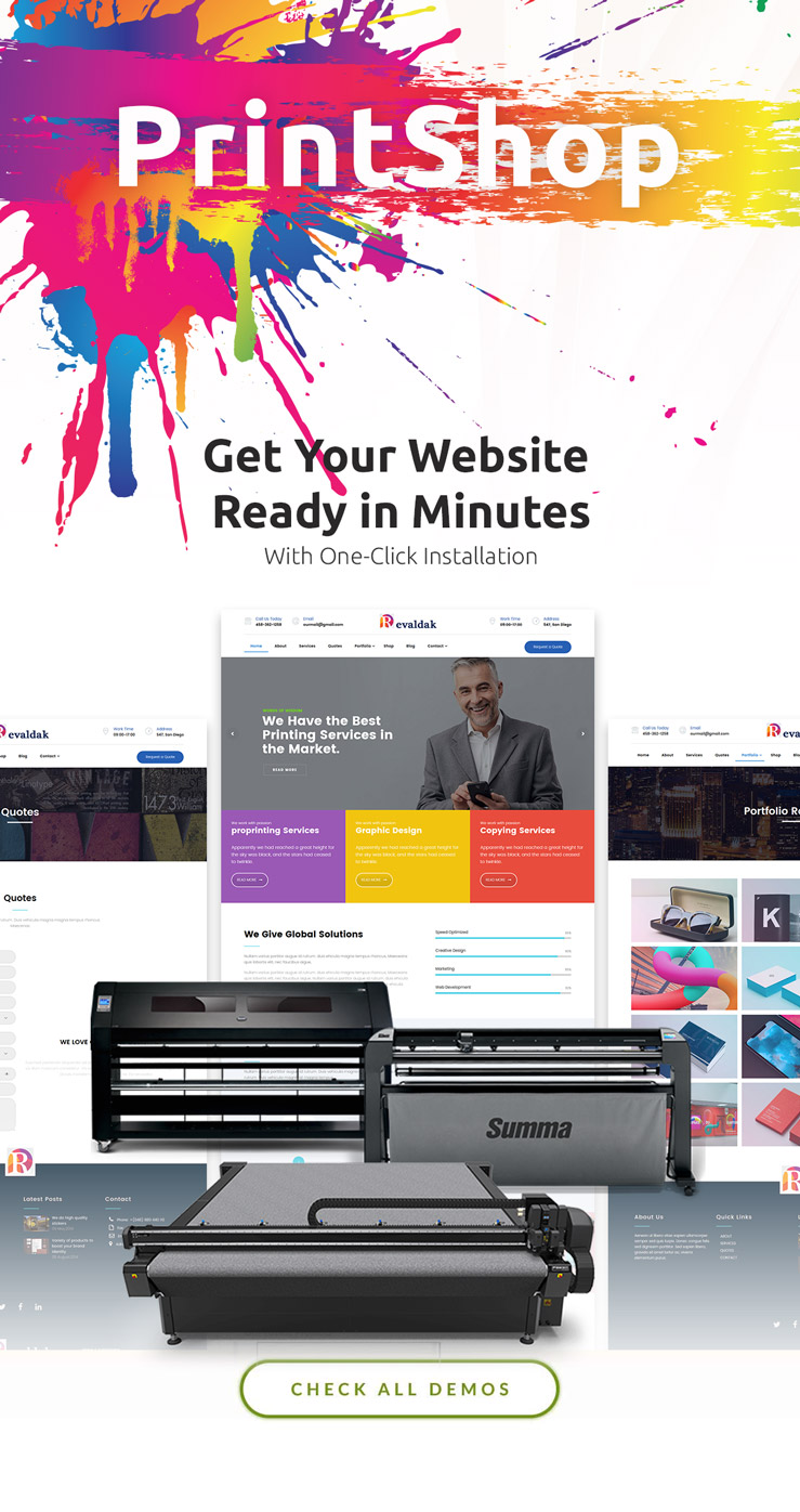 WordPress print shop theme